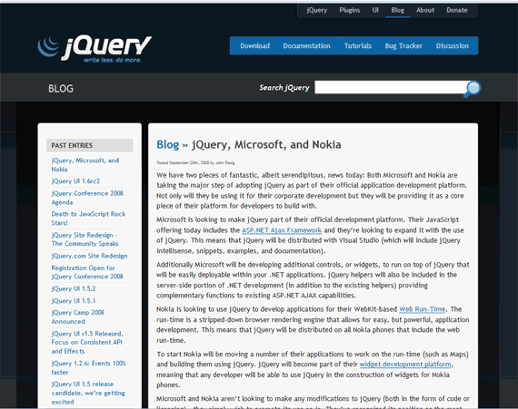 jQuery Sample via John's Blog