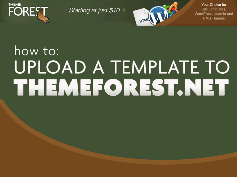 How to Upload a Template to ThemeForest.net