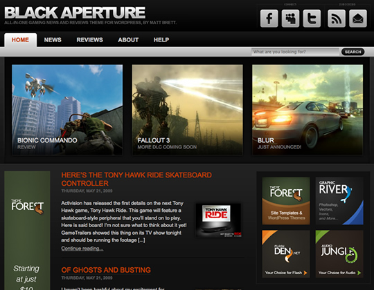 Top Best Game Premium WordPress Themes 2011