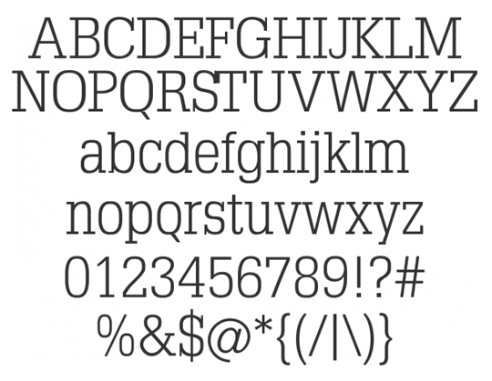 TypoSlabserif