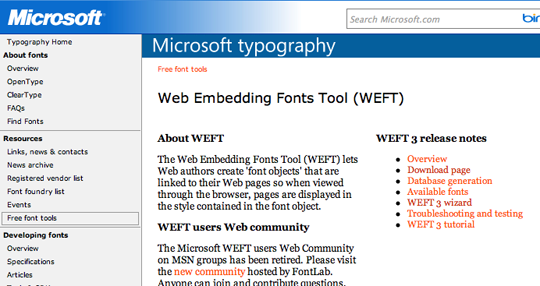 Microsoft WEFT