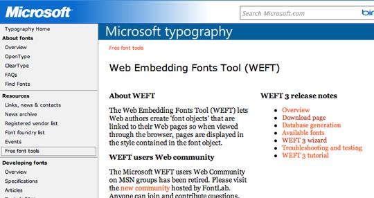 Microsoft WEFT