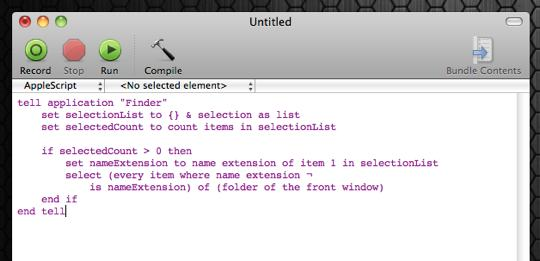 select-all-applescript