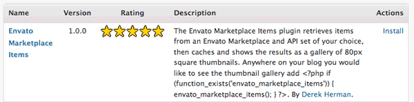 Envato Marketplace Item Option