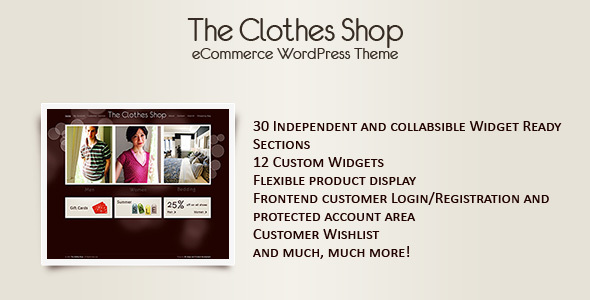 The Clothes Shop -WordPress eCommerce