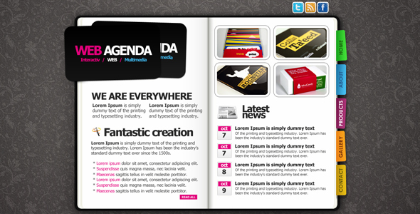 CREATIVE WEB AGENDA
