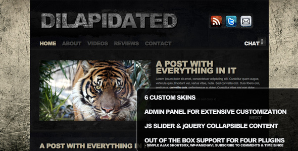 Dilapidated - Premium CMS Grunge WordPress Theme