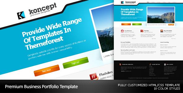Koncept Business & Portfolio Template - 10 Colors