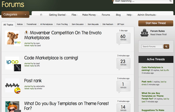 forums-screen