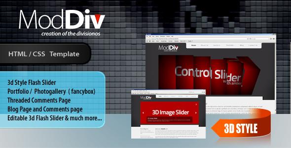 ModDiv(3D Slider) Business & Portfolio Template