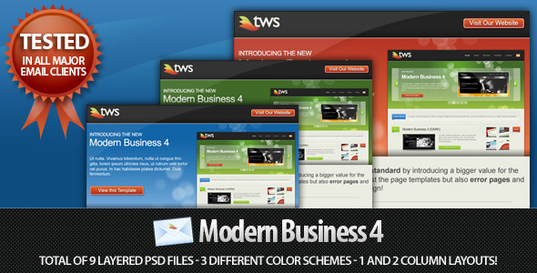 Modern Business 4 HTML Email Template