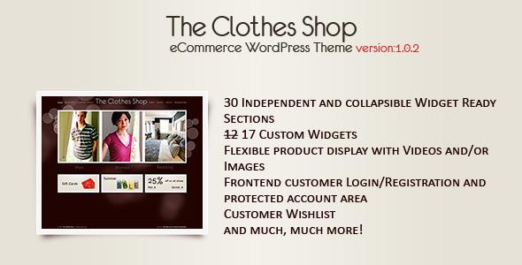 The Clothes Shop -WordPress eCommerce