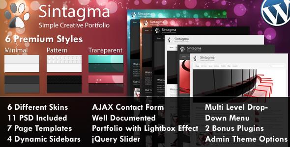 Sintagma - Premium Elegant WordPress Theme