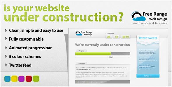Under construction - Twitter & animated progress
