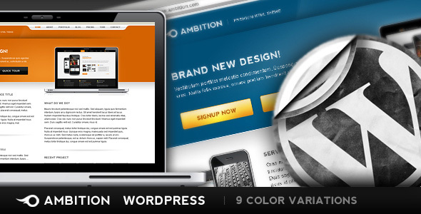 Ambition Wordpress Edition - 9 colors