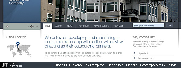 #1 Business layered .PSD template // adaptable.