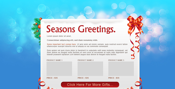 Seasons Greetings - Email postcard - NewsLetter
