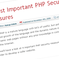 4 Most Important PHP Security Measures