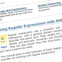 Using Regular Expressions with PHP
