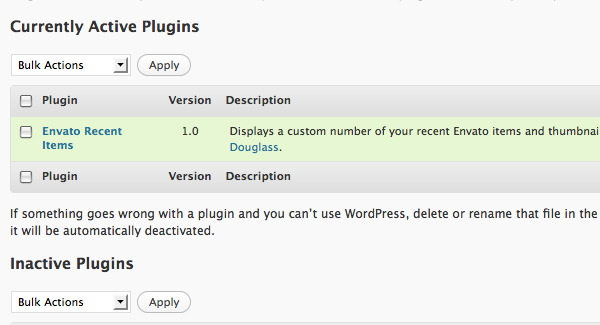 Activate Plugin Screenshot
