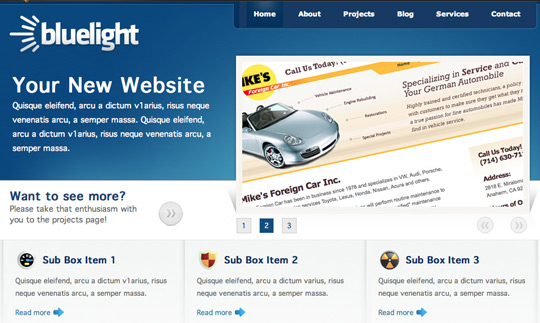 Bluelight HTML Template