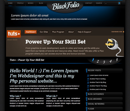 Black Folio HTML Template