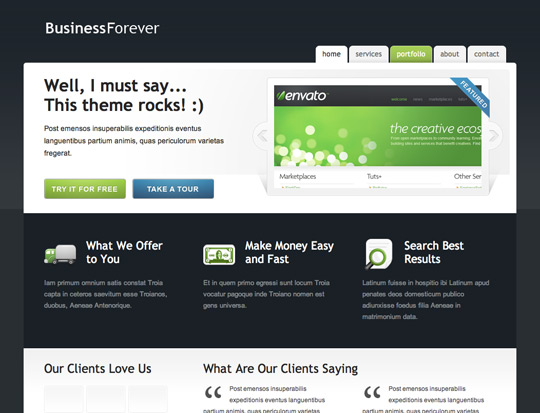 Business Forever | business template