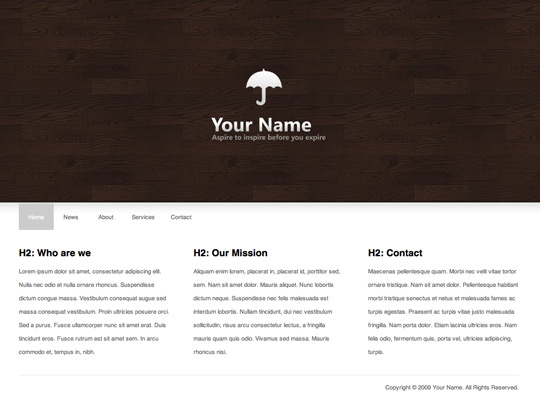 Clean and minimal HTML Template
