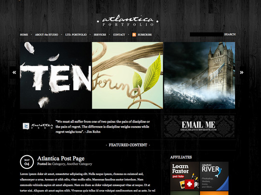Dark Atlantica HTML Template