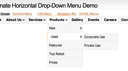 Free CSS Drop-Down Menu Framework