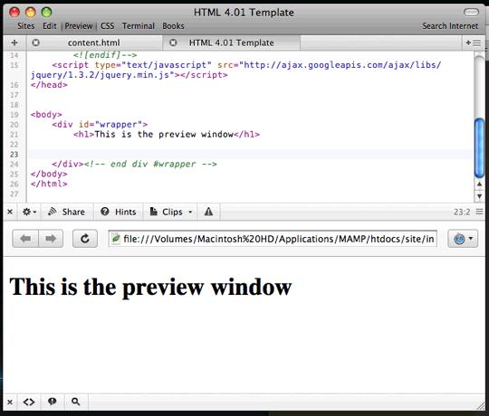 Coda Window Previews