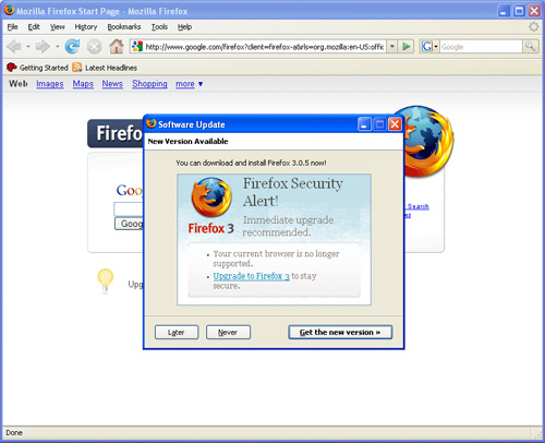 Firefox update