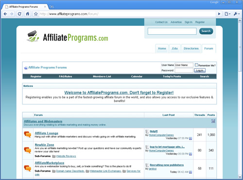 Affiliate programs