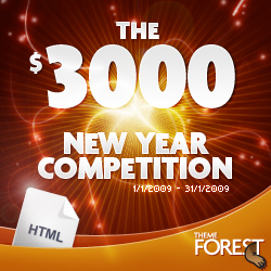 The $3000 new year competition!